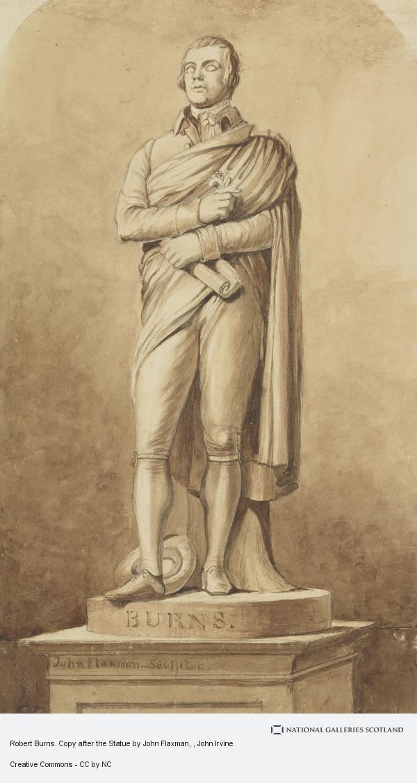 John Irvine, Robert Burns. Copy after the Statue by John Flaxman
