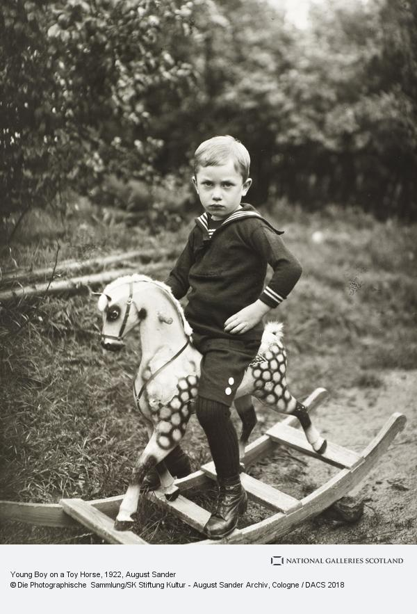 August Sander, Young Boy on a Toy Horse, c.1922-25 (about 1922 - 1925)