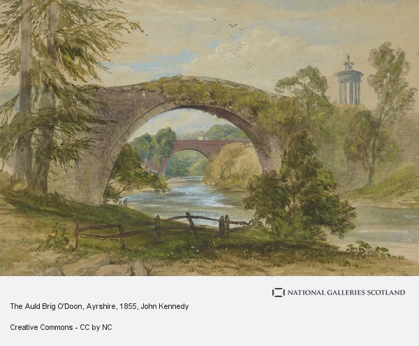 John Kennedy, The Auld Brig O'Doon, Ayrshire (1855)