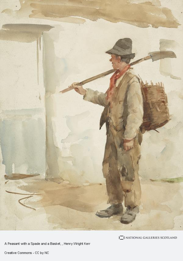 Henry Wright Kerr, A Peasant with a Spade and a Basket