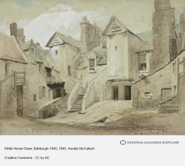 Horatio McCulloch, White Horse Close, Edinburgh (1845)