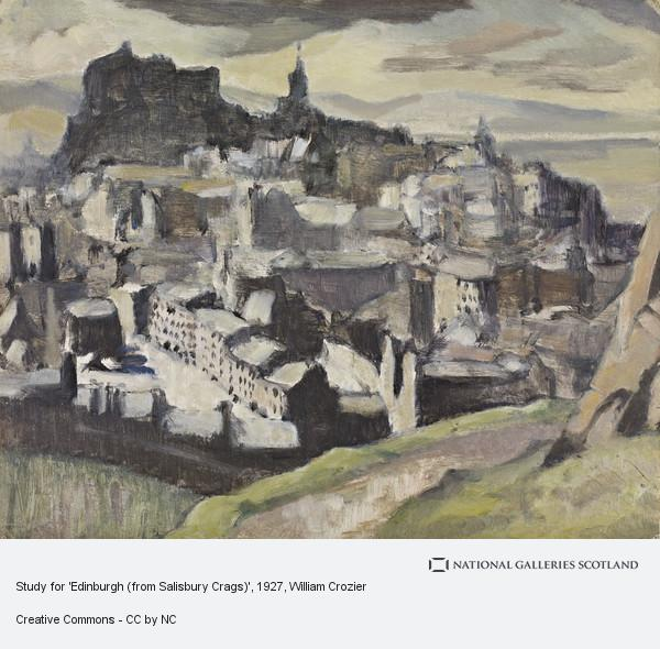 William Crozier, Study for 'Edinburgh (from Salisbury Crags)'