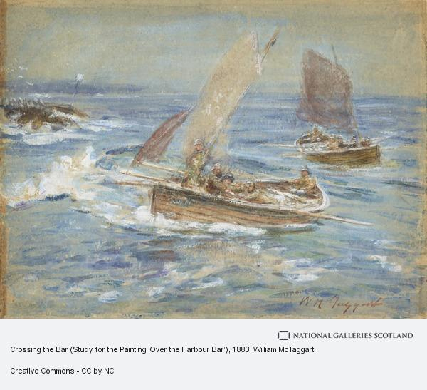 William McTaggart, Crossing the Bar (Study for the Painting 'Over the Harbour Bar') (About 1883 - 1886)