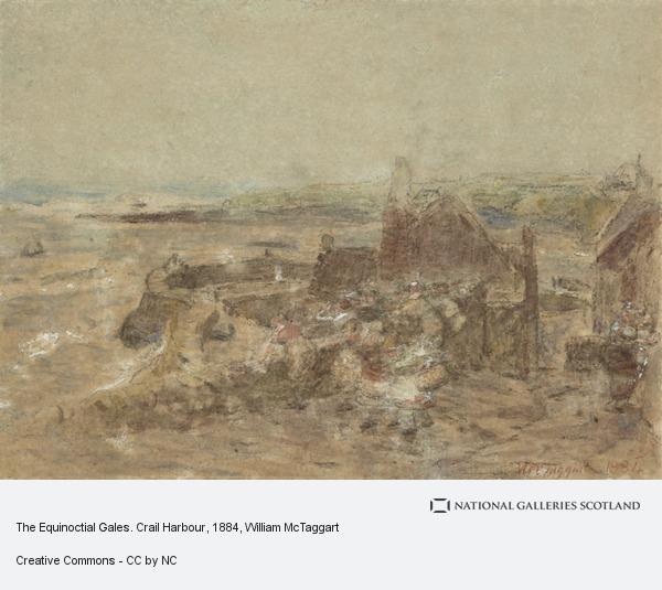 William McTaggart, The Equinoctial Gales. Crail Harbour
