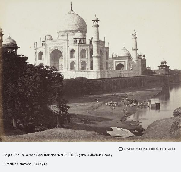 Eugene Clutterbuck Impey, 'Agra. The Taj, a rear view from the river'