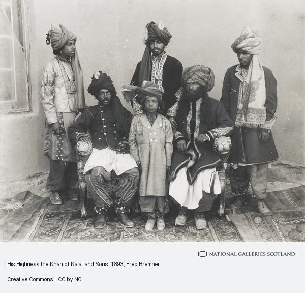 Fred Bremner, His Highness the Khan of Kalat and Sons (About 1893)