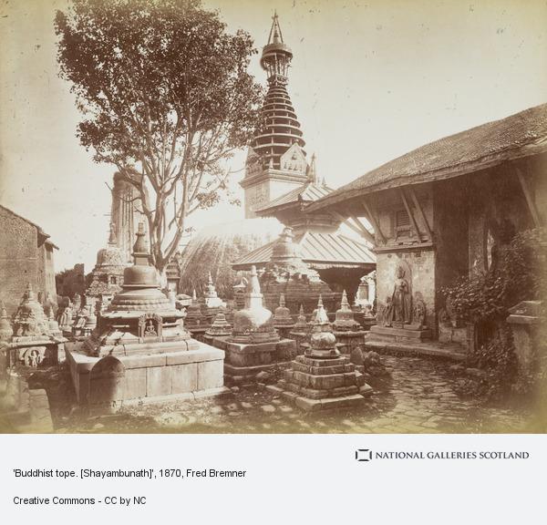 Fred Bremner, Temple of Adi Buddha at Swayambhunath (1870s)