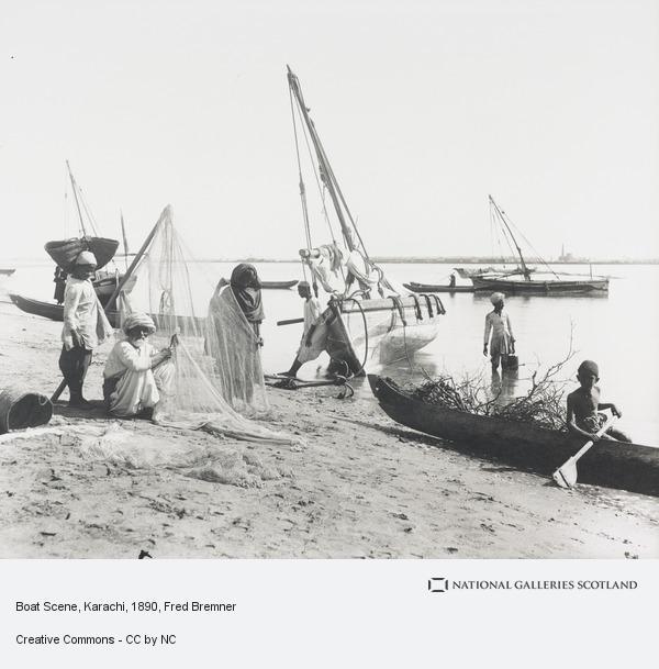 Fred Bremner, Boat Scene, Karachi (About 1890)