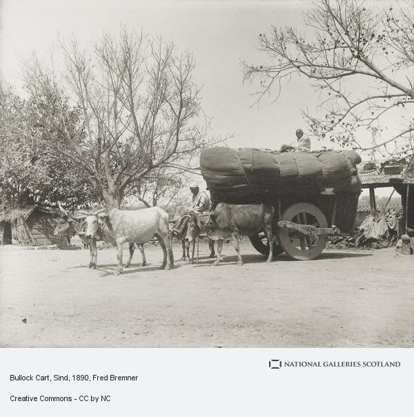 Fred Bremner, Bullock Cart, Sind (About 1890)