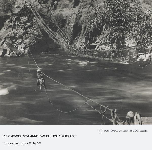 Fred Bremner, River crossing, River Jhelum, Kashmir