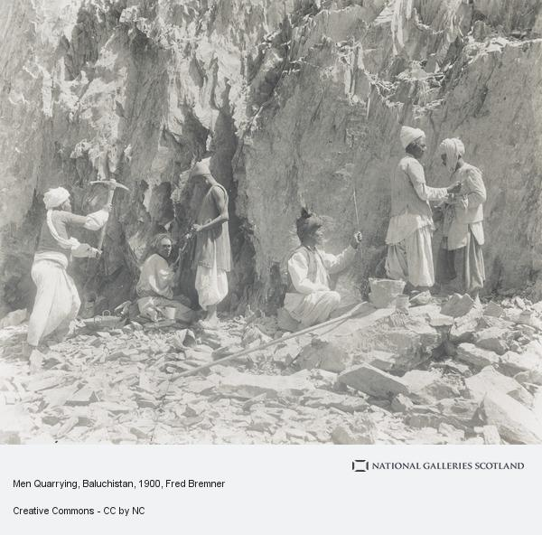 Fred Bremner, Men Quarrying, Baluchistan (About 1900)