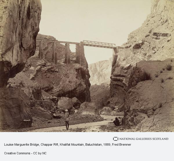 Fred Bremner, Louise Marguerite Bridge, Chappar Rift, Khalifat Mountain, Baluchistan