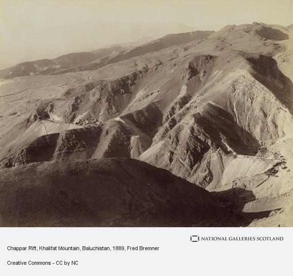 Fred Bremner, Chappar Rift, Khalifat Mountain, Baluchistan (About 1889)