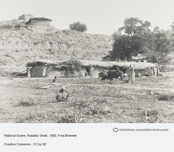 Fred Bremner, Pastoral Scene, Possibly Sindh (About 1890)