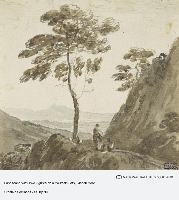 Jacob More, Landscape with Two Figures on a Mountain Path
