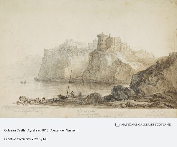 Alexander Nasmyth, Culzean Castle, Ayrshire [Verso: Sketches of Heads] (1812)