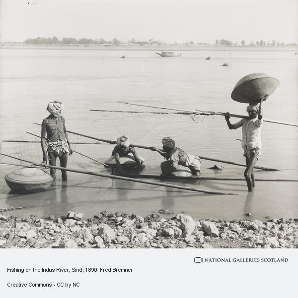 Fred Bremner, Fishing on the Indus River, Sind (About 1890)