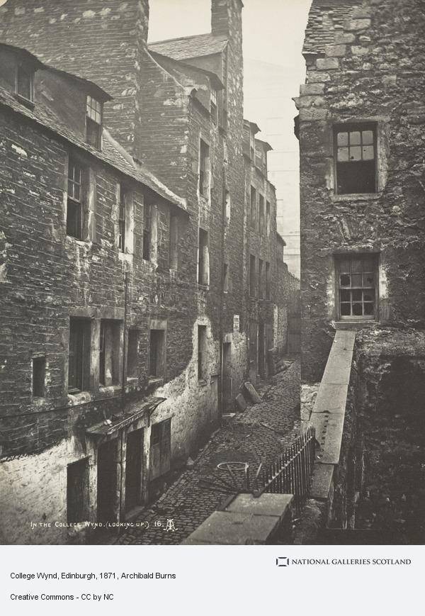 Archibald Burns, College Wynd, Edinburgh