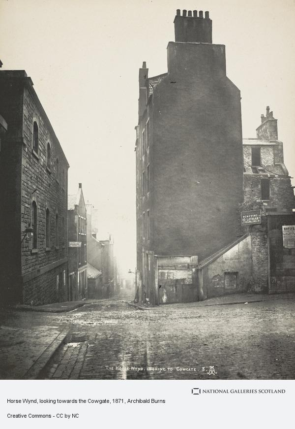 Archibald Burns, Horse Wynd, looking towards the Cowgate