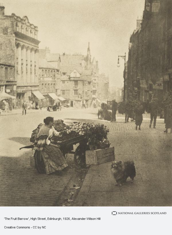 Alexander Wilson Hill, 'The Fruit Barrow', High Street, Edinburgh
