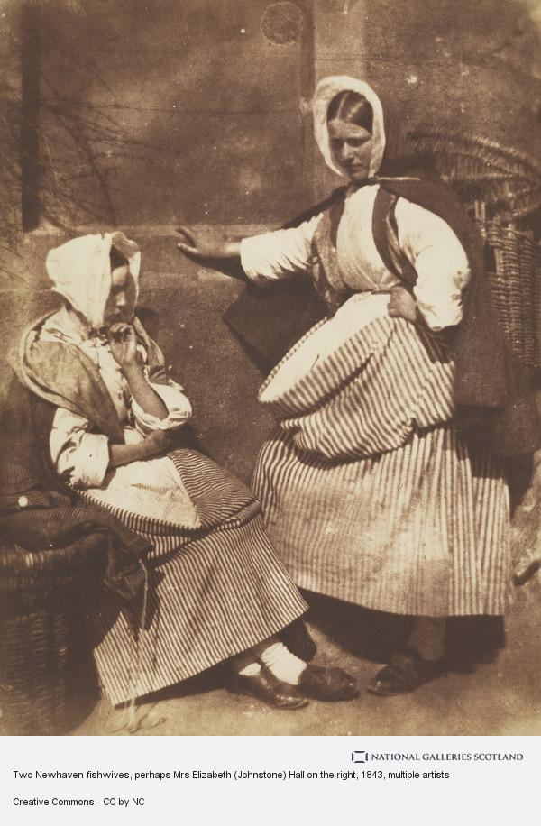 David Octavius Hill, Two Newhaven fishwives, perhaps Mrs Elizabeth (Johnstone) Hall on the right (1843 - 1847)