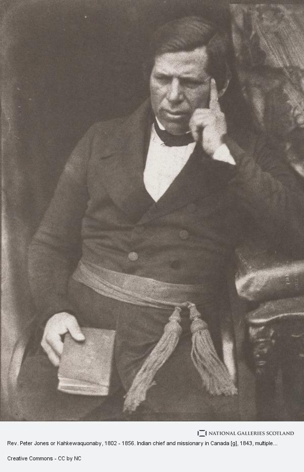 David Octavius Hill, Rev. Peter Jones or Kahkewaquonaby, 1802 - 1856. Indian chief and missionary in Canada [g]