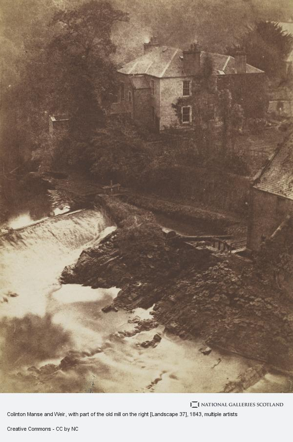 David Octavius Hill, Colinton Manse and Weir, with part of the old mill on the right [Landscape 37]