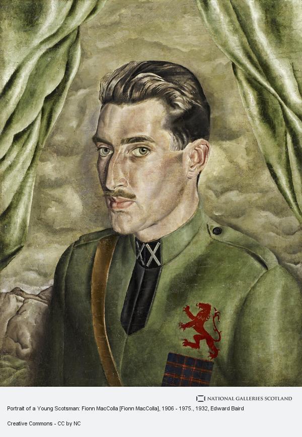 Edward MacEwan Baird, Portrait of a Young Scotsman: Fionn MacColla [Fionn MacColla], 1906 - 1975. (1932)