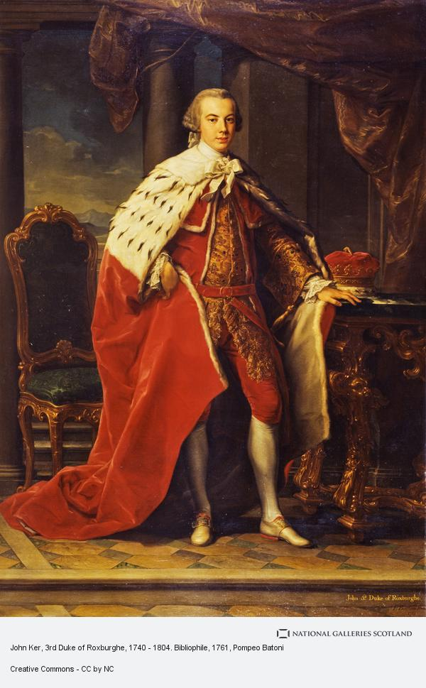 Pompeo Girolamo Batoni, John Ker, 3rd Duke of Roxburghe, 1740 - 1804. Bibliophile