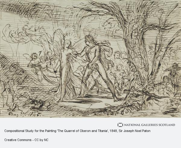 Sir Joseph Noel Paton, Compositional Study for the Painting 'The Quarrel of Oberon and Titania'
