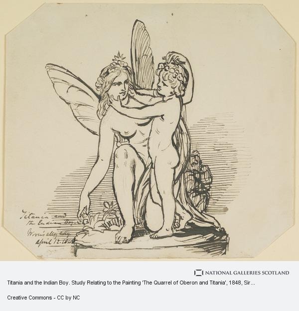 Sir Joseph Noel Paton, Titania and the Indian Boy. Study Relating to the Painting 'The Quarrel of Oberon and Titania'