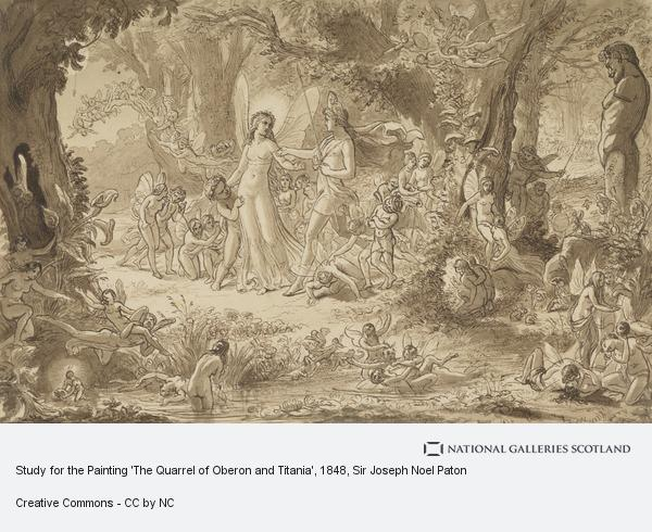 Sir Joseph Noel Paton, Study for the Painting 'The Quarrel of Oberon and Titania'