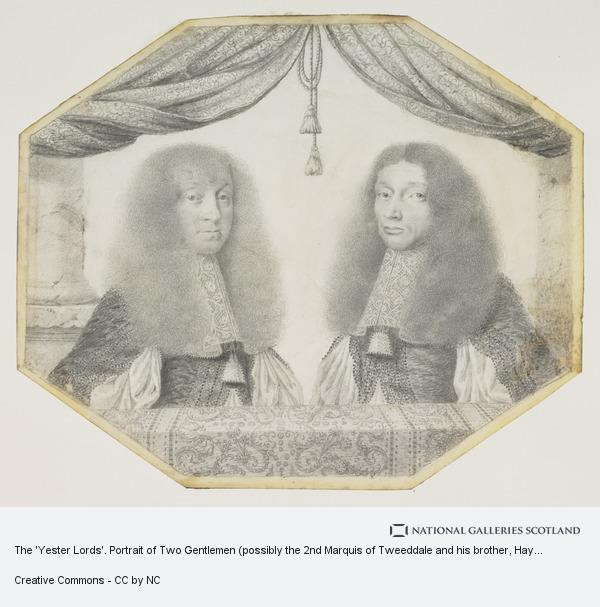 David Paton, The 'Yester Lords'. Portrait of Two Gentlemen (possibly the 2nd Marquis of Tweeddale and his brother, Hay of Belton)