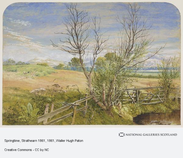 Waller Hugh Paton, Springtime, Strathearn (Dated 1861 on the verso)