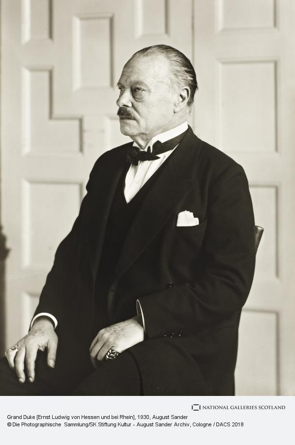 August Sander, Grand Duke [Ernst Ludwig von Hessen und bie Rhein], about 1930 (about 1930)