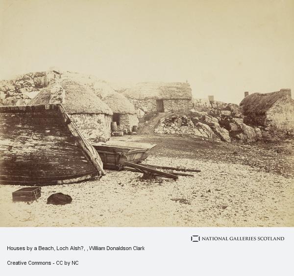 William Donaldson Clark, Houses by a Beach, Loch Alsh?