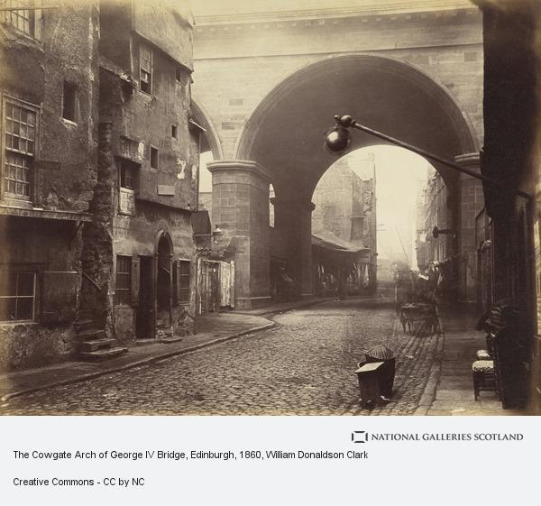 William Donaldson Clark, The Cowgate Arch of George IV Bridge, Edinburgh (About 1860)