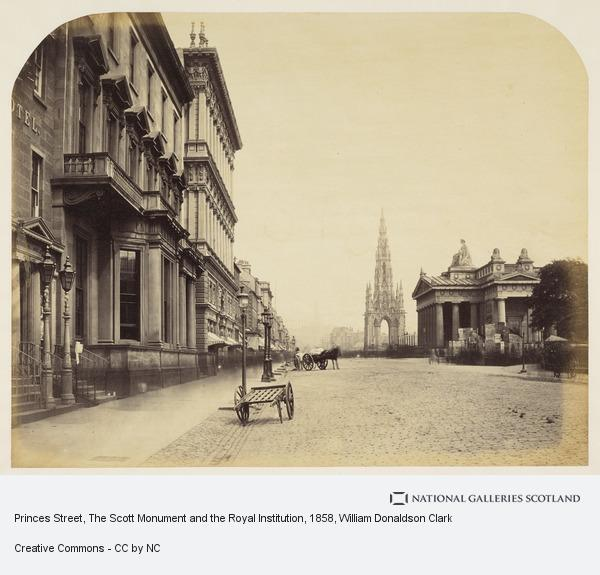 William Donaldson Clark, Princes Street, The Scott Monument and the Royal Institution (About 1858)