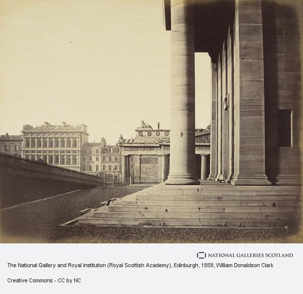 William Donaldson Clark, The National Gallery and Royal Institution (Royal Scottish Academy), Edinburgh (About 1858)