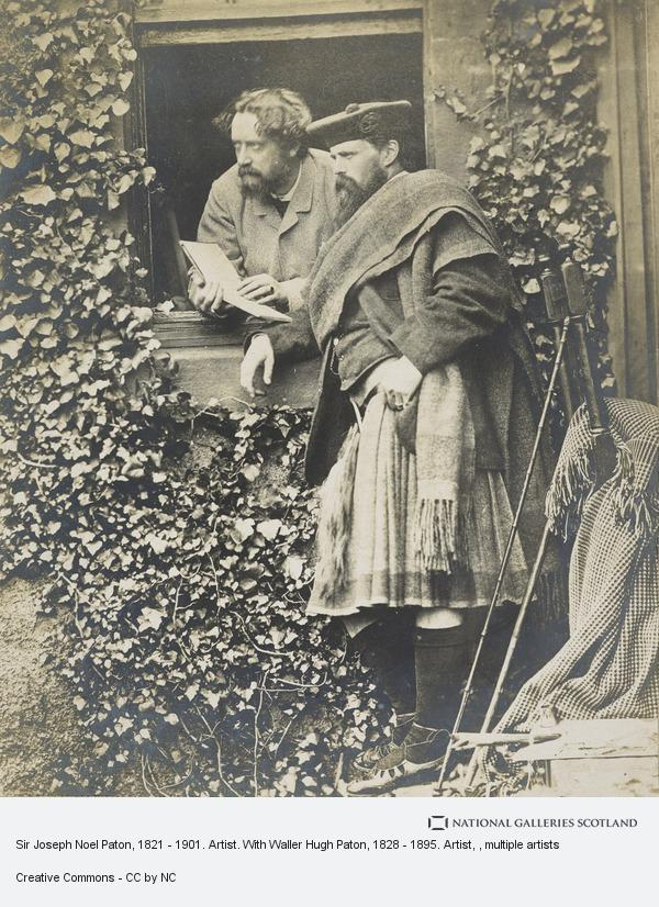 David Octavius Hill, Sir Joseph Noel Paton, 1821 - 1901. Artist. With Waller Hugh Paton, 1828 - 1895. Artist