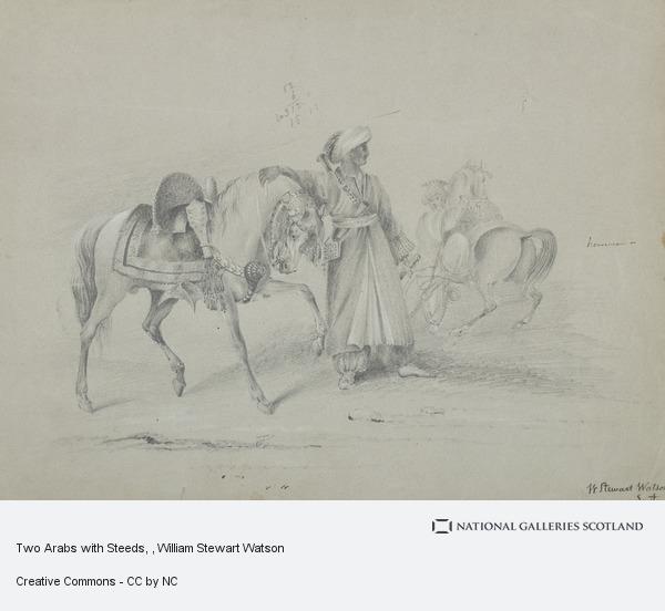 William Stewart Watson, Two Arabs with Steeds