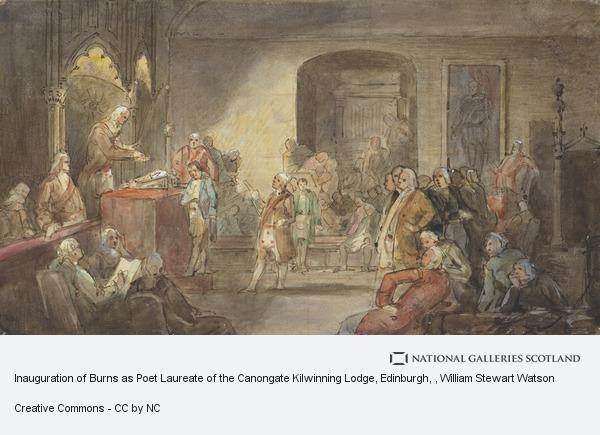 William Stewart Watson, Inauguration of Burns as Poet Laureate of the Canongate Kilwinning Lodge, Edinburgh