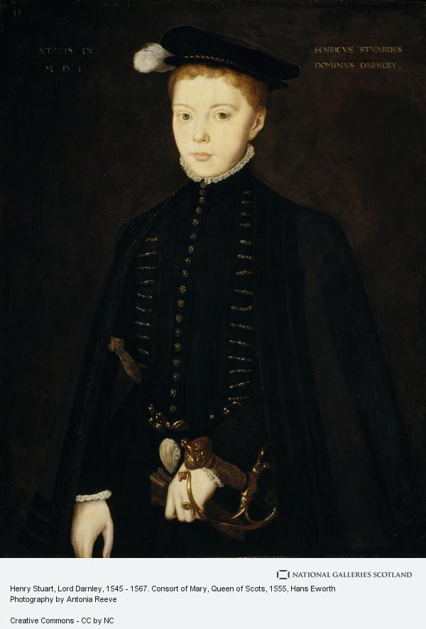 Hans Eworth, Henry Stuart, Lord Darnley, 1545 - 1567. Consort of Mary, Queen of Scots