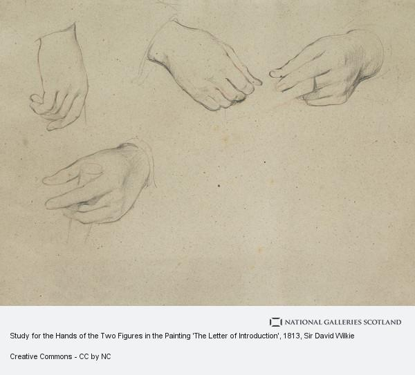 Sir David Wilkie, Study for the Hands of the Two Figures in the Painting 'The Letter of Introduction'