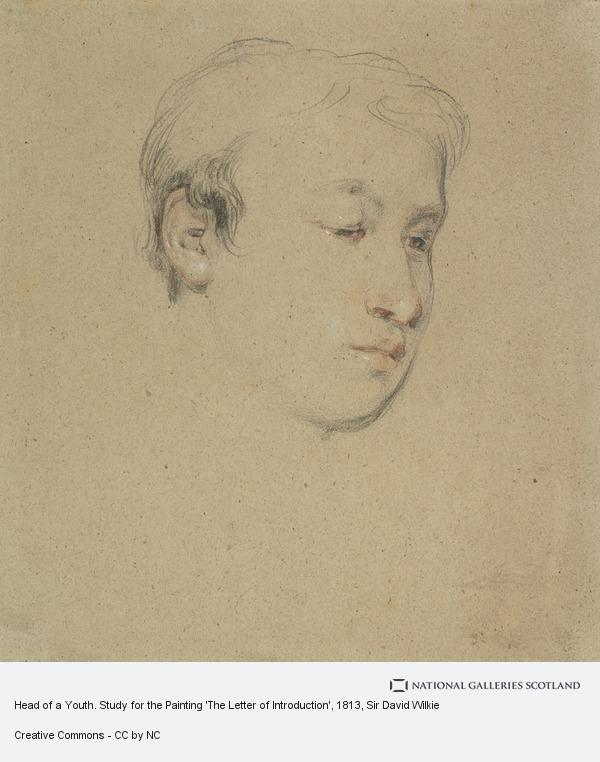 Sir David Wilkie, Head of a Youth. Study for the Painting 'The Letter of Introduction'