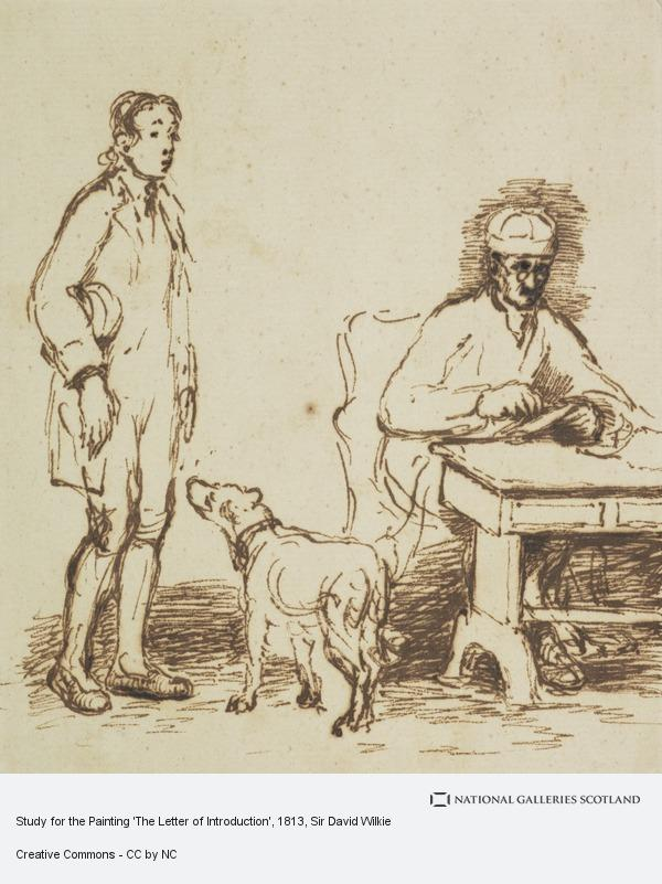 Sir David Wilkie, Study for the Painting 'The Letter of Introduction'