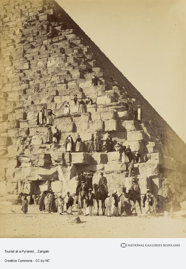 Zangaki, Tourist at a Pyramid