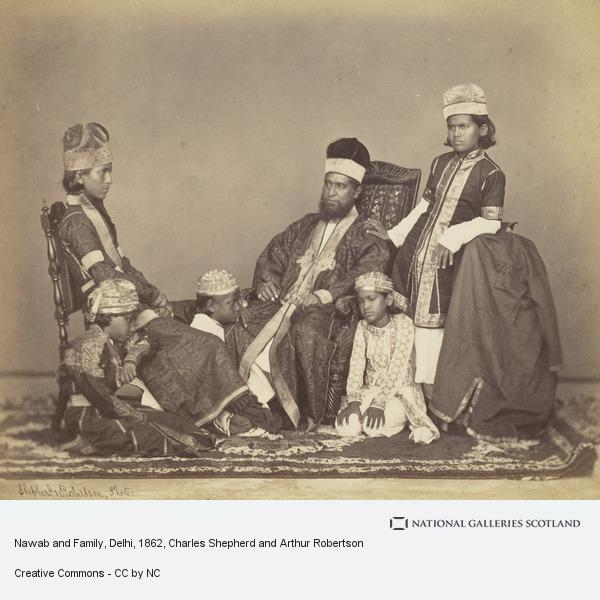 Charles Shepherd and Arthur Robertson, Nawab and Family, Delhi