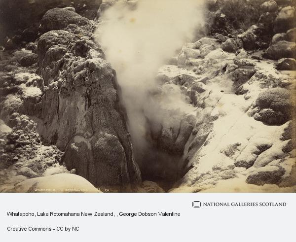 George Dobson Valentine, Whatapoho, Lake Rotomahana New Zealand