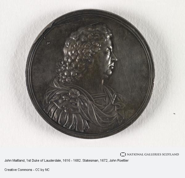 John Roettier, John Maitland, 1st Duke of Lauderdale, 1616 - 1682. Statesman (1672)